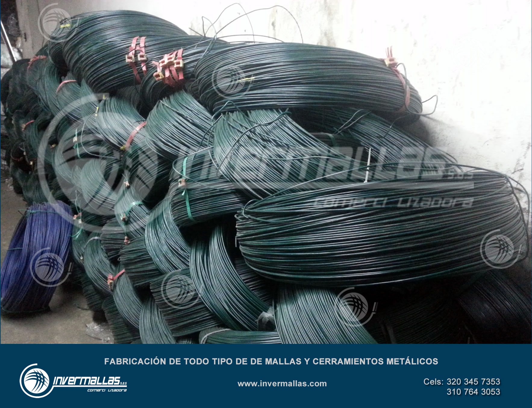 Rollo de alambre galvanizado