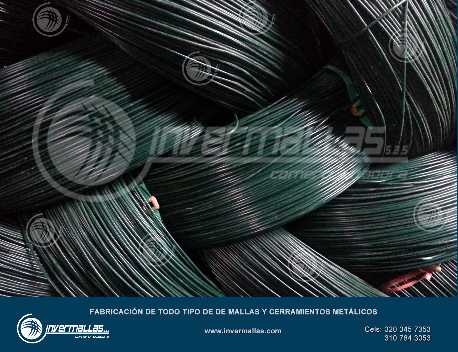 Alambre galvanizado recubierto PVC