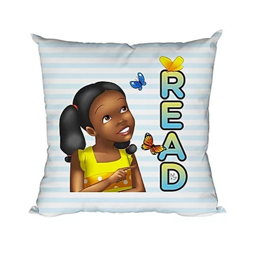READ Throw Pillow, Double-Sided, 18x18