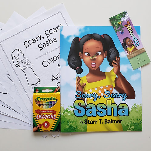 Scary, Scary Sasha Coloring & Activity Set
