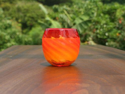 ヤエヤマフォレスト琉球グラスYaeyama Forest red Ryukyu glass candle