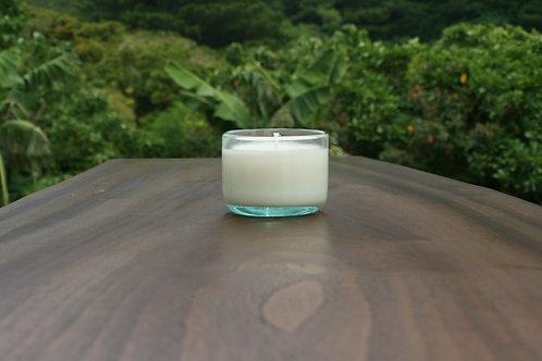ヤエヤマジャスミン琉球グラスYaeyama Jasmine green Ryukyu glass candle