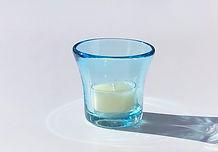 A-Toritani blue glass with tea light.jpg