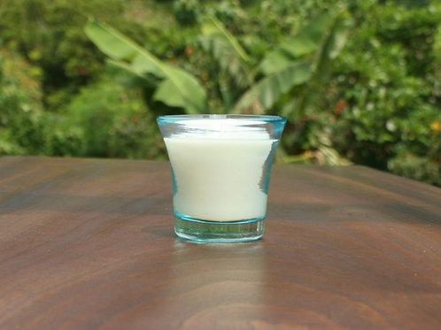 ヤエヤマフォレスト琉球グラスYaeyama Forest blue Ryukyu glass candle