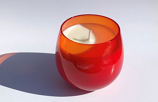 A-Toritani Forest Mist Candle Ruby Glass