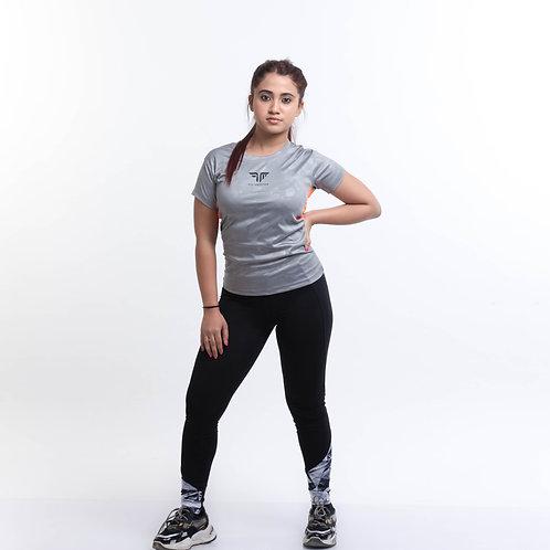 AirTech Women's Camou Tee - Grey