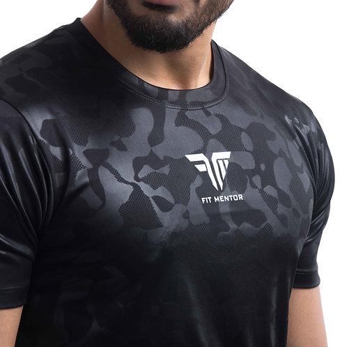 AirTech Men's Camou Tee - Black