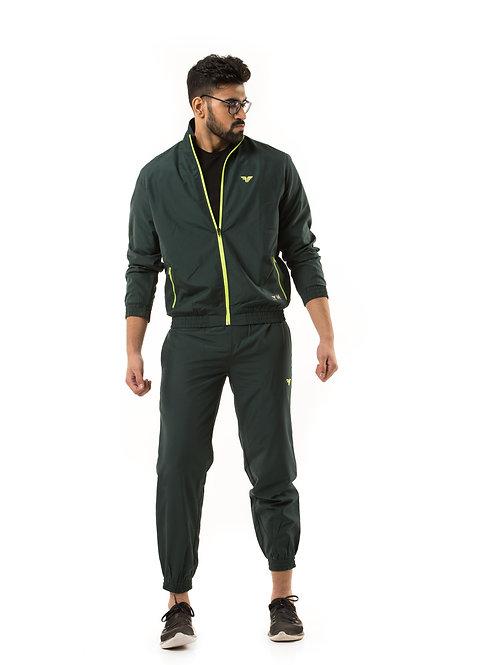 Millennial Men's Track Jacket - Bottle Green
