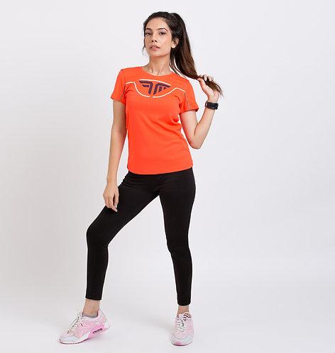 AirTech Women's Tee - Neon Orange