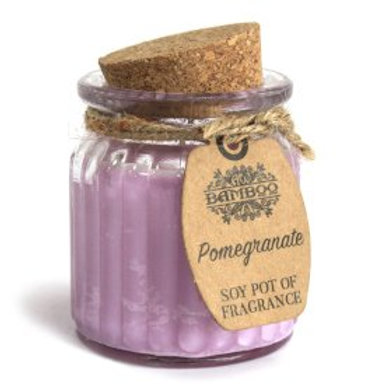 Pomegranate Soy Pot of Fragrance Candles