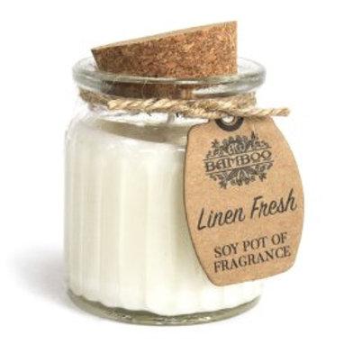 Linen Fresh Soy Pot of Fragrance Candles
