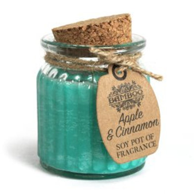 Apple & Cinnamon Soy Pot of Fragrance Candles