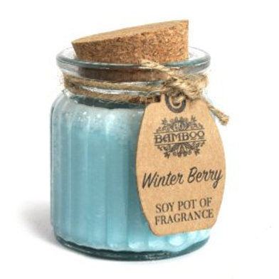Winter Berry Soy Pot of Fragrance Candles