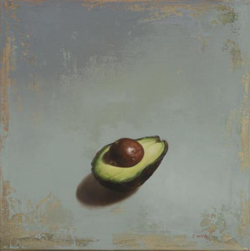 Avocado On Blue