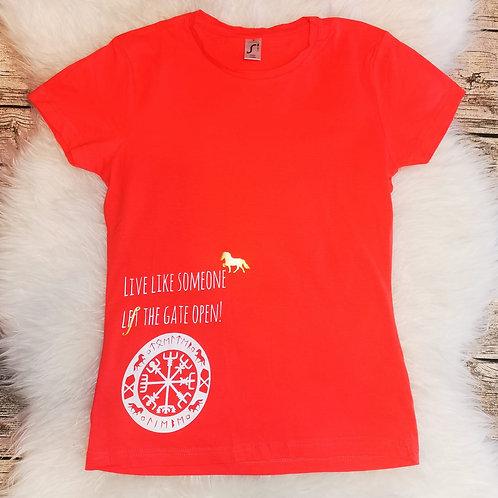T-Shirt koralle Noridic Icestyle