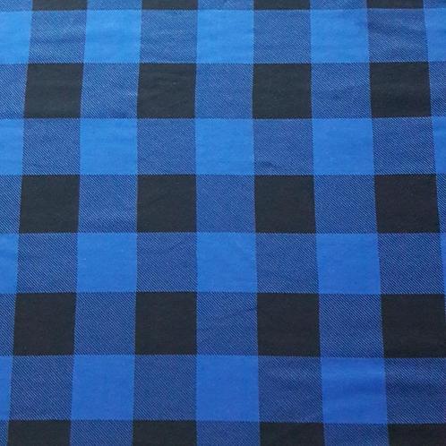 Baumwolljersey Lumberjack blau schwarz kariert