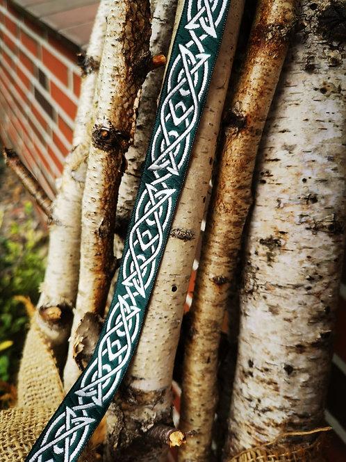 Webband Hjörtur grün / silber