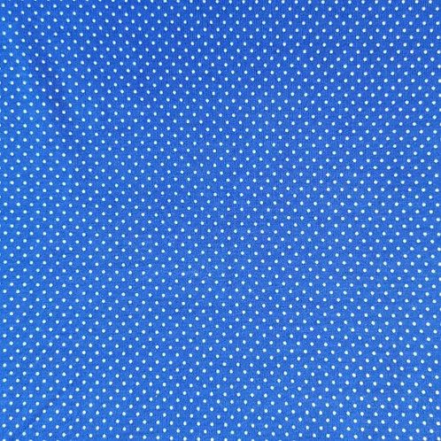 Baumwolljersey minidots blau / weiß