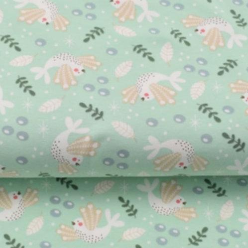 Baumwolljersey Frühlingsvogel freshgreen