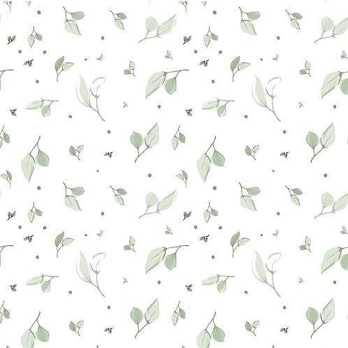 Baumwolljersey Blätterregen creme