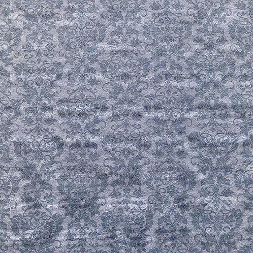 Feinrippbündchen Ornamente hellblau