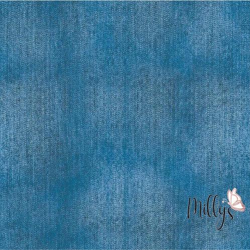 Baumwolljersey Jeansoptik Magicdenim blau