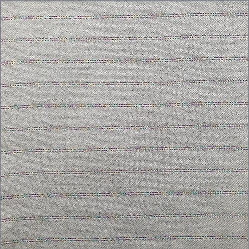 Lurex Bündchen Glitzer rainbow stripes lichtgrau