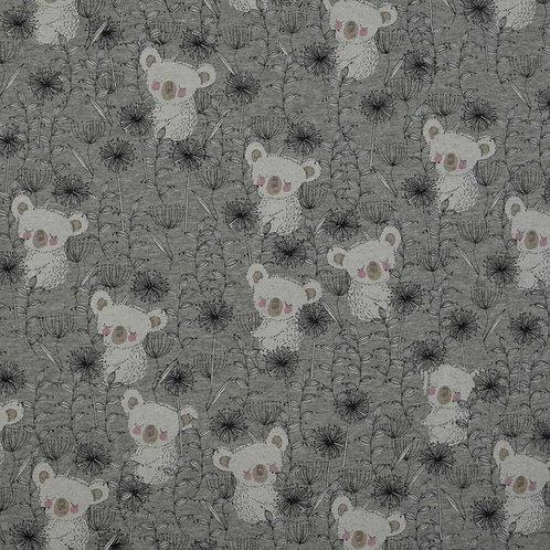 Baumwolljersey Koala grau