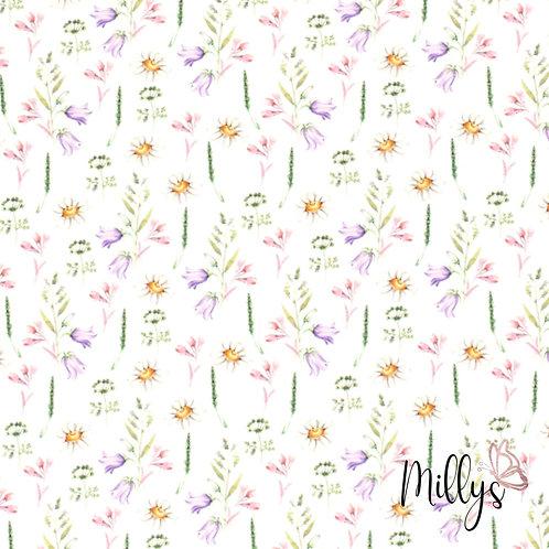 Baumwolljersey Frühlingsblüte