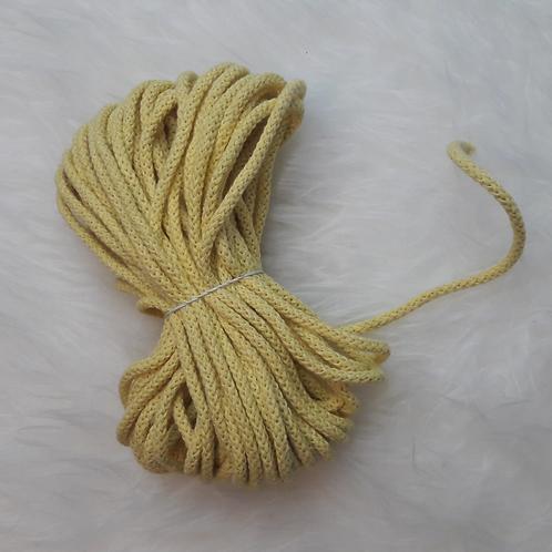 Baumwollkordel 5mm gelb