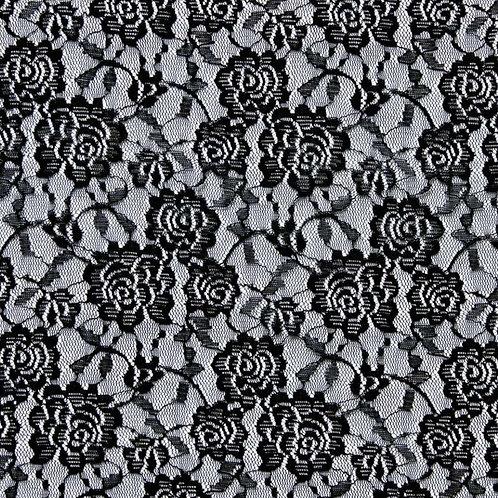 Lace Spitze schwarz (elastisch)