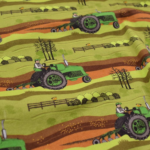 Baumwolljersey Held vom Feld grün