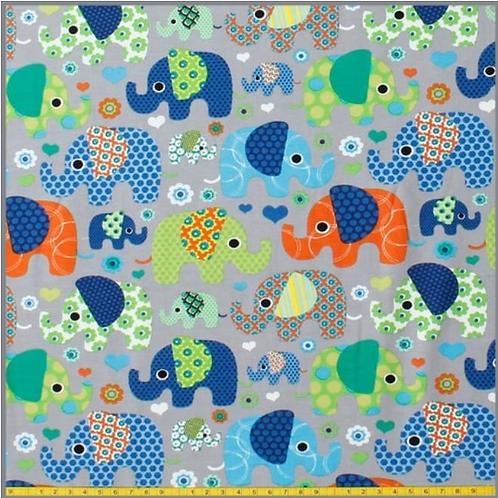 Baumwolljersey bunte Elefanten