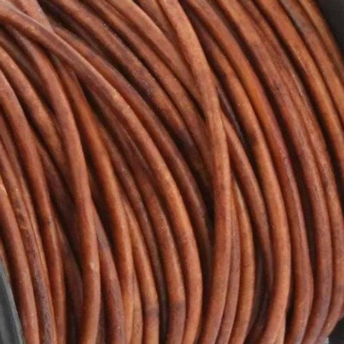 Echtleder antik hellbraun 1mm