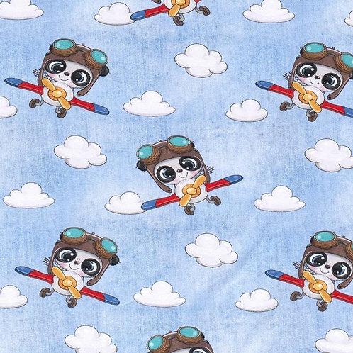 Baumwolljersey Flieger Panda helljeans