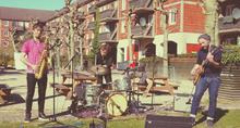 Live backyard jazz concert with Solborg/Banke/Heebøl