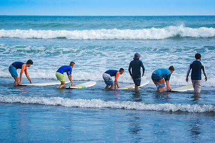 Surf lessons for beginners. Costa Rica,