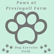 Paws at Presingoll Farm Logo Black 13052