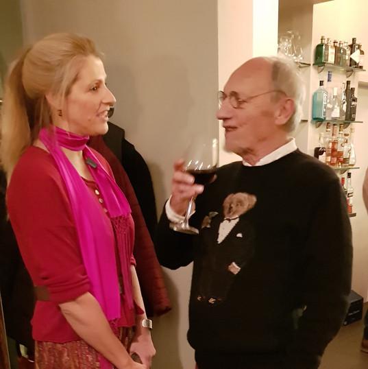 Kunstenaar Martin Wallaert met Bianca Br