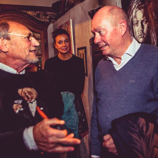 Kunstenaar Martin Wallaert met Jan Brier