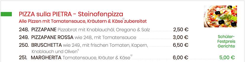 Pizza sulla Pietra - Steinofenpizza - Br