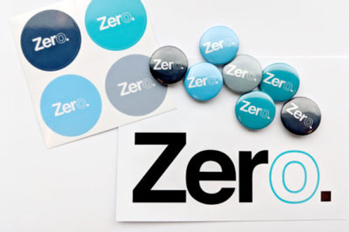 Zero pin badge