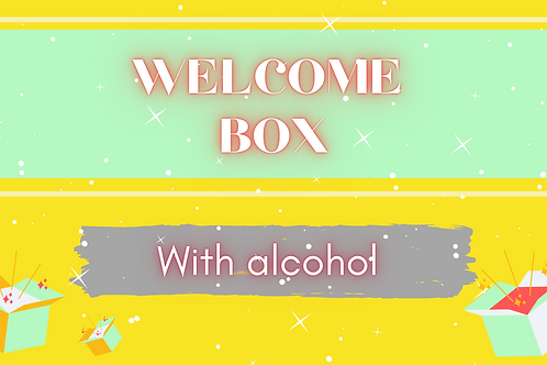 Welcome box (with alcohol)