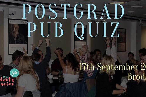 Postgraduate Pub Quiz