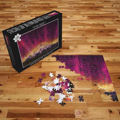 500pc Teton Sunset Jigsaw Puzzle
