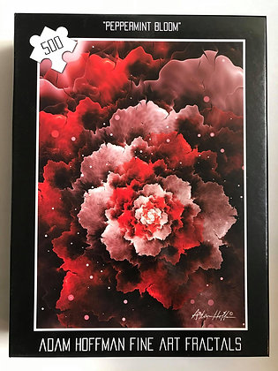 500pc  Peppermint Bloom Jigsaw Puzzle