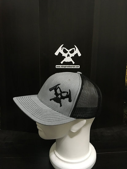 Viking Drool Trucker Hat (Heather Grey/Black)