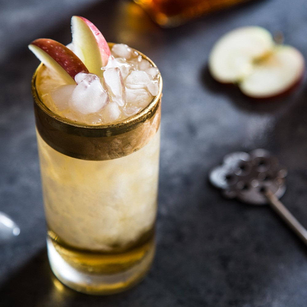 Apple Cider Swizzle Cocktail