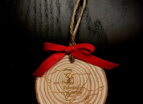 Laser Engraved Wooden Ornament