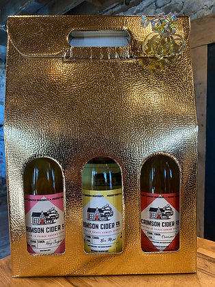 Gold 3 Bottle Box